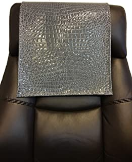 luvfabrics Vinyl Crocodile Gray 14x30 Sofa Loveseat Chaise Theater Seat, RV Cover, Chair Caps Headrest Pad, Recliner Head Cover, Furniture Protector