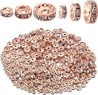 60322-1596 8MM Rose Gold Tone Round Spacer Beads for Jewelry Making 10 Pcs