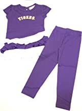 Two Feet Ahead LSU Tigers Toddler Ruffle Dress and Leggings Set