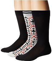 HUE - Lucky 8 Socks with Half Cushion 3-Pack