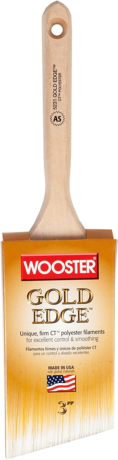 Wooster 5231-2 Series 5231 2 Gold Edge Angle Brush 2 Inch.
