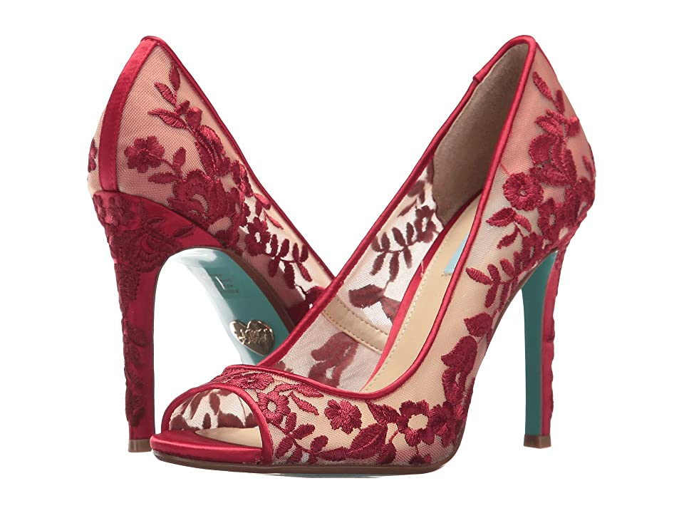 Betsey Johnson Adley (Red Fabric) High Heels