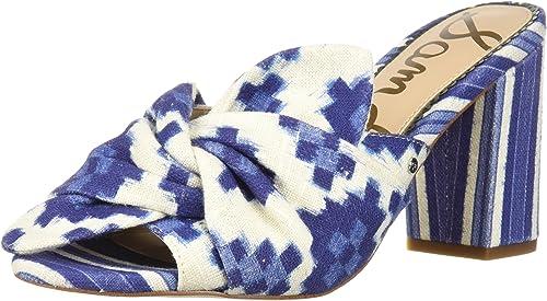 Sam Edelman Wohommes Oda Heeled Sandal, bleu Multi, 5 M US