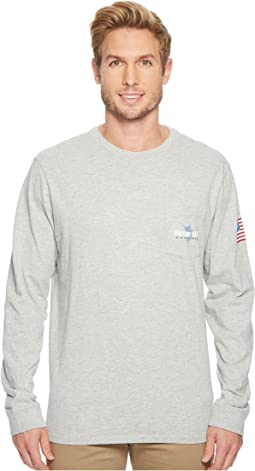 Vineyard Vines - Long Sleeve 98 Marlin Pocket Tee