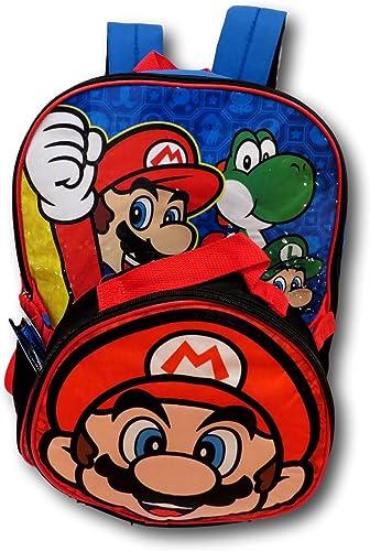 Super Mario, Jungen Kinderrucksack Rot rot 40,6 cm