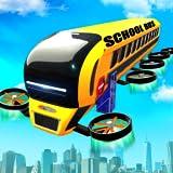 Flying School Bus Transform Robot Games
