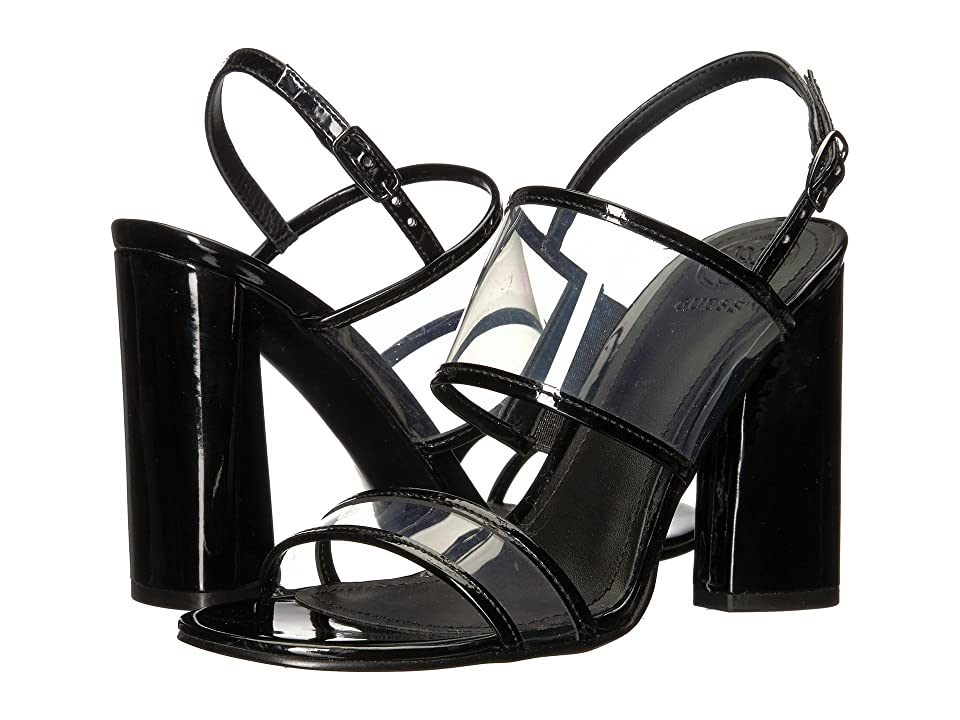 GUESS Amidala (Clear/Black Synthetic) High Heels