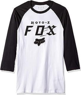 Fox Men's Moto-X Premium Raglan 3/4 Sleeve, White/Black, S