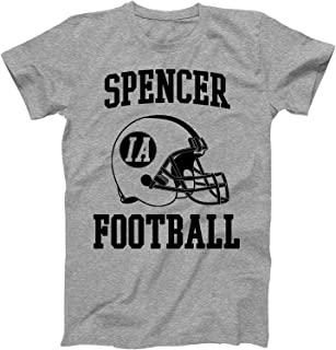 Vintage Football City Spencer Shirt for State Iowa with IA on Retro Helmet Style