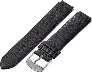 Philip Stein 1-ZB 18mm Leather Lizard Black Watch Strap