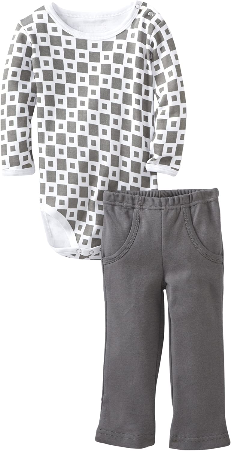 L'ovedbaby Baby Boys' Bodysuit And Pant Set, Gray, 18 24 Months