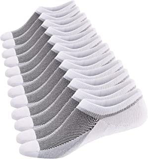 Men's No Show Socks Ultra Low Cut Casual Socks Invisible Boat Shoe Liners with Non-Slip Grip