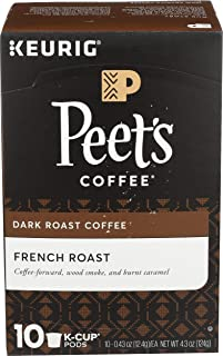 Peet's Coffee French Roast Dark Roast Coffee K-Cup, 10 ct