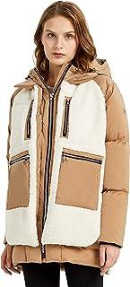 Women's Fleece Down Coat Thickened Winter Puffer Down Jacket