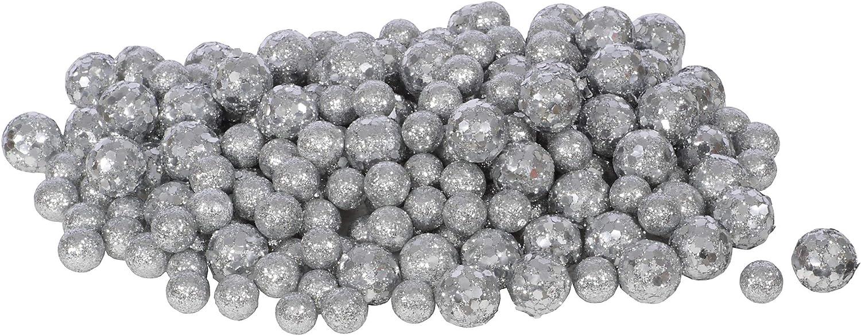 18 glitter Styrofoam Balls Wei Gold coloured silver coloured Christmas Winter meyco