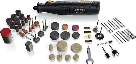 Brandson - Batteri multifunktionsverktyg 8 V – svarvverktyg med 110 tillbehör – fräs – variabel hastighet 5 000-25 000 var...
