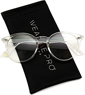 WearMe Pro - Transparent Clear Frame Round Glasses