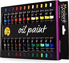 Colore Oil Paint Set – Perfect for Use On Landscape and Portrait Canvas Paintings – Great for Professional Artists, Studen...