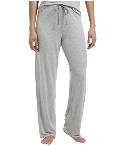 HUE Solid Long PJ Pants with Temp Tech (Light Heather Grey) Women