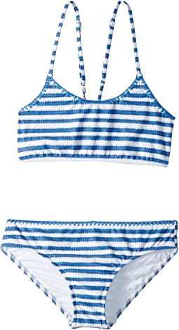 Seafolly Kids - Sapphire Coast Stripe Tankini Set (Little Kids/Big Kids)