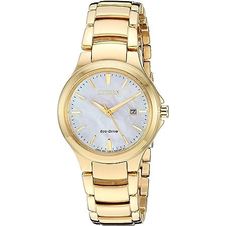 Citizen Eco-Drive Chandler Quartz Womens Watch, Stainless Steel, Casual, Gold-Tone (Model: EW2522-51D)