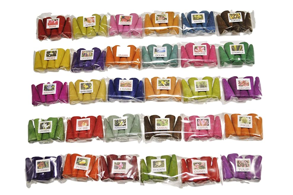 費用完了ブレイズタイのお香セット お香 30種 各5個入 150個 コーン香 三角香 コーン インセンス ミニパック タイのお香 THAI INCENSE (1)