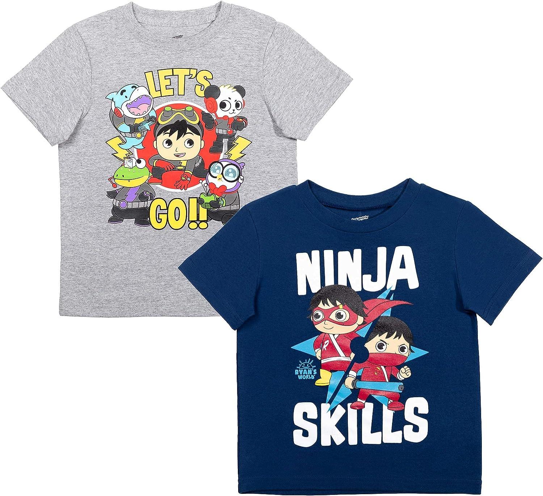 RYAN'S WORLD Max Kansas City Mall 55% OFF Toddler Little Big Boys 2 Sleeve Short T-Shirt Pack