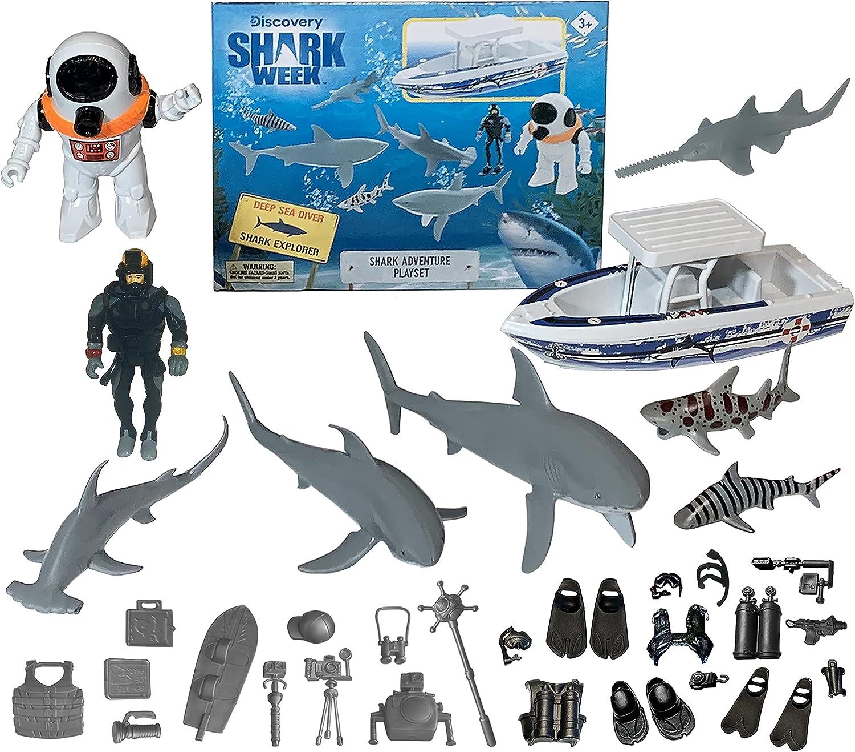 SHARK WEEK Discovery Deep Ocean Explorer Max 40% OFF Bombing new work for Kid Big Toy Playset