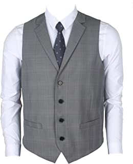 Ruth&Boaz メンズ ビジネス スーツ テーラードカラー 2ポケット4ボタン ベスト (S~XXXL)