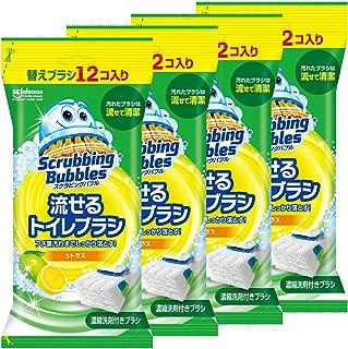 【まとめ買い】 スクラビングバブル トイレ洗剤 流せるトイレブラシ シトラスの香り 付替用48個セット