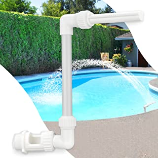 Klleyna Water-Fountain Swimming-Pool Sprinkle Accessories - Waterfall Above In-ground Pool, Cooling Spray for Outdoor Gard...