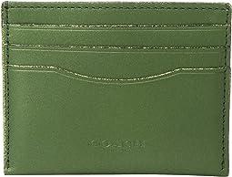 COACH - Flat Card Case in Metallic Leather