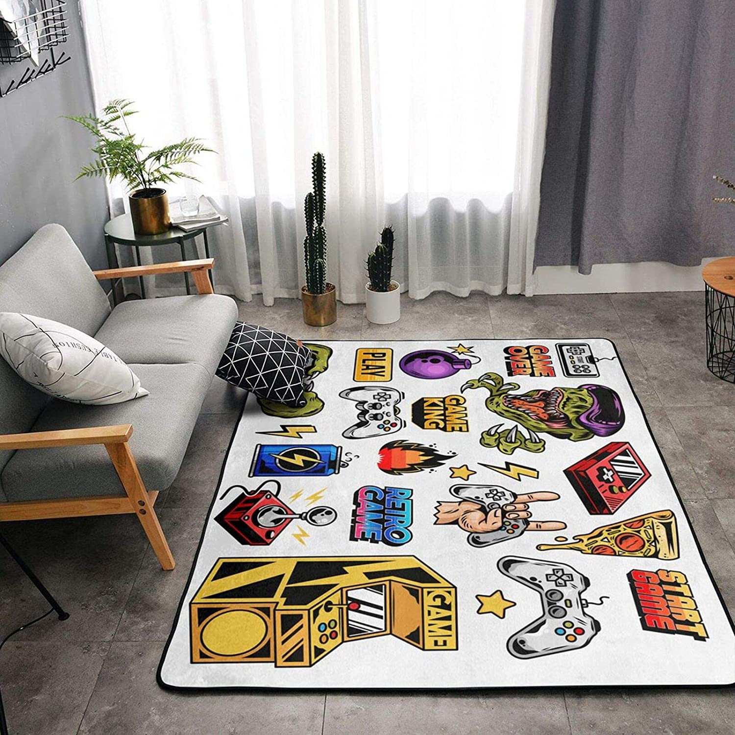 Video Game Area Rug Home Carpet NEW before selling Theme Floor New popularity Decor Non-Slip