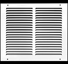 """12""""w X 10""""h Steel Return Air Grilles - Sidewall and Ceiling - HVAC Duct Cover - White [Outer Dimensions: 13.75""""w X 11.75""""h]"""