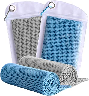 JISHY Mesh Cooling Towel Soft Breathable for Instant Cooling Relief,100% Microfiber Chilly Towel for Yoga, Camping, Sports, Gym, Workout, Fitness, Workout Activities and More