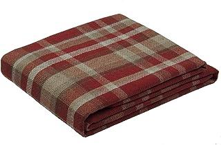 McAlister Textiles Manta Heritage, Ideal para sofá, Cama, sillones, etc, Lana, Rojo, XX-Large (265cm x 380cm)