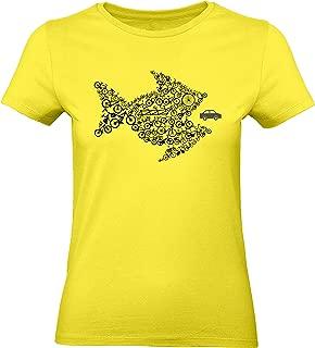 Camiseta de Bicileta para Damas: Bikes of The World Organize ! T-Shirt Entallado - Regalo para Ciclista - Bici - BTT - MTB Mountain-Bike - Downhill - Deporte - Camisetas Mujer-es Retro