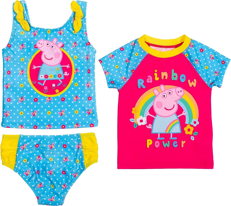 Today's only free Peppa Pig 3 Piece Swim Bottom Set: Guard Tankini Rash