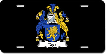 Carpe Diem Designs Reed Coat of Arms/Reed Family Crest (Ireland) License/Vanity Plate – Made in The U.S.A.