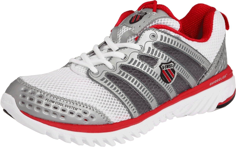 K -SWISS Blade ljus springa Ladies springaning skor, vit    silver  röd, UK3.5  trendig