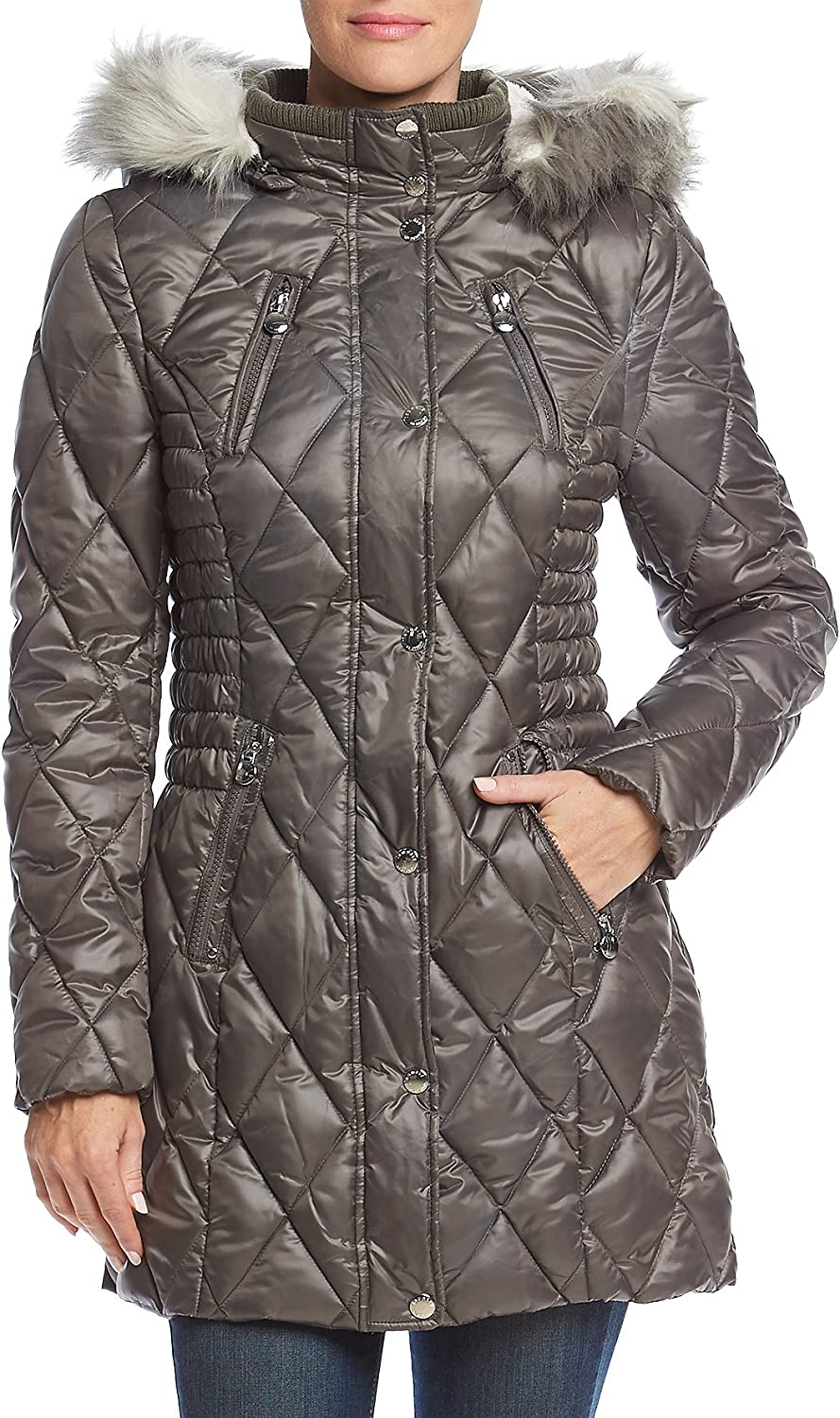 Laundry Diamond Quilted Puffer Jacket
