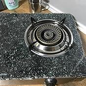 ORBEGOZO 17539 Hornillo a Gas, Cuerpo INOX y Superficie de Cristal Templado Negro (7mm) FO 2720
