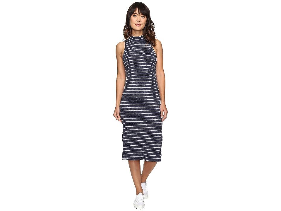 Splendid Striped Rib Dress (Navy) Women