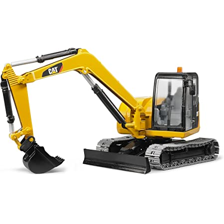 Bruder Toys - Construction Realistic CAT Mini Excavator Vehicle with Rotatable Cab and Removeable Shovel - Ages 3+
