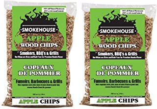 Smokehouse Products All Natural Flavored Wood Smoking Chips, 2 Pack (Apple)