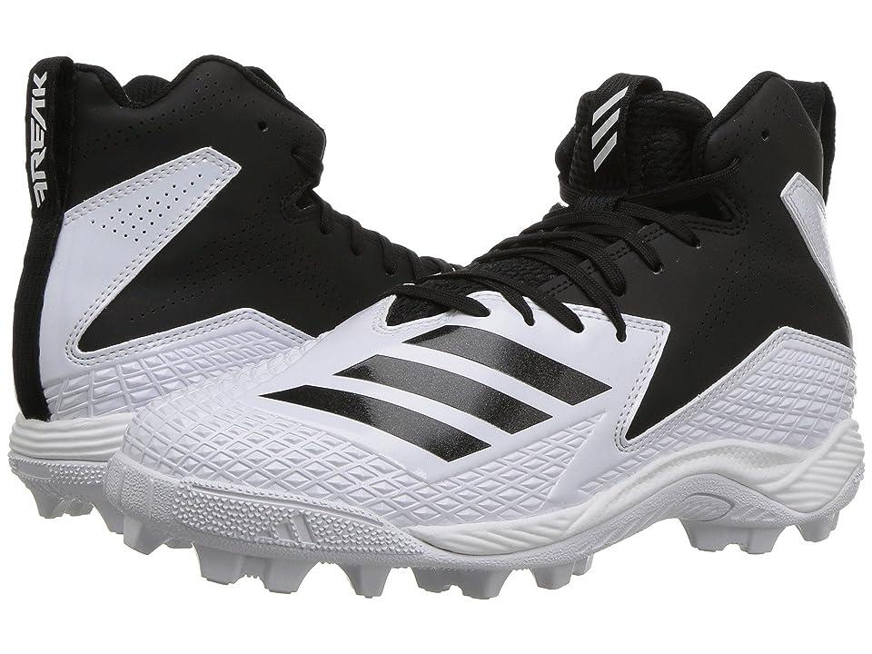 adidas Kids Freak Mid Football Wide (Little Kid/Big Kid) (White/Black) Boys Shoes