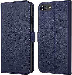 iPhone8 / 7 / 6 / 6s 手帳型 サイドマグネット式 本革 RFIDブロッキング カバー 全面保護 スタンド機能 カード収納 耐汚れ 耐衝撃 ギフトボックス アイフォン8 / 7 / 6 / 6s 兼用(4.7インチ用 ネイビー)Navy Blue