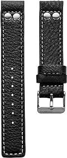 Oozoo OA-10-26 - Bracelet pour Montre, Cuir, Couleur: Noir