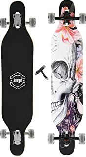 WiiSHAM Longborads Skateboards 42 inches Complete Drop Down Through Deck Crusier Pr Speed