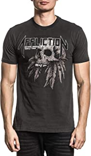 Affliction Men's Graphic T-Shirt American Customs Remains Variant Short Sleeve Crew Neck Reversible Tee